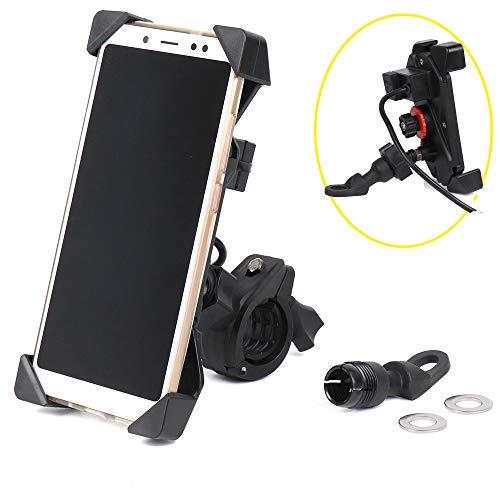 Soporte Movil para Moto Universal para Teléfono con Puerto USB para Movil...