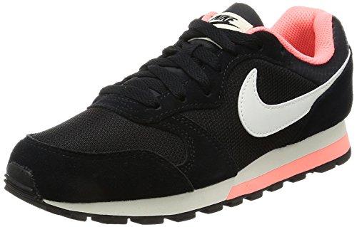 Nike Wmns Md Runner 2, Chaussures de Tennis Femme Noir (Black / Sail / Lava Glow)