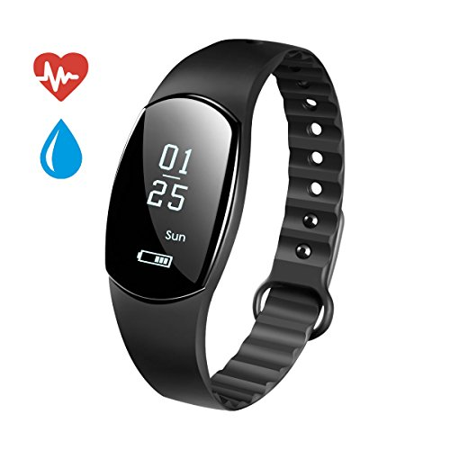 Fitness Tracker, Smart Armband robotsdeal ID115 Bluetooth Call erinnern Fernbedienung Selbstauslöser Smart Watch Activity Tracker Kalorienzähler Wireless Schrittzähler Sport Band Schlaf Monitor für An (IP67 Fitness Tracker)