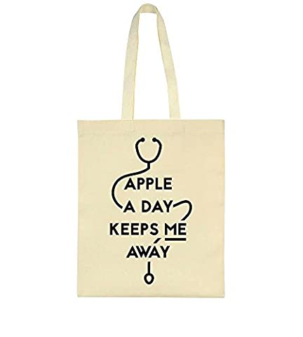 Apple A Day Keeps Me Away Doctor Equipment Toile Sac Fourre-tout Tote Bag