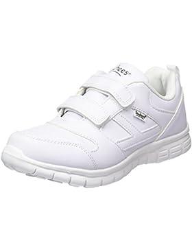 Toughees Shoes Unisex-Kinder Elana Flex Velcro Laufschuhe, Schwarz