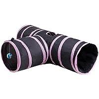 Everpert - Túnel plegable para mascotas y gatos, juguetes de entrenamiento para interior y exterior, cachorro, conejo, casa de juguete