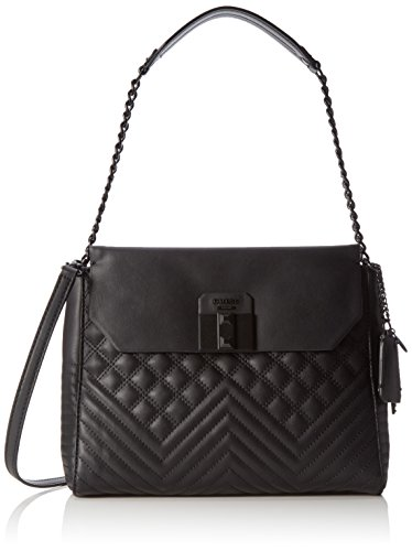 Guess - Rebel Roma Shoulder Bag, Borsa a spalla Donna Nero