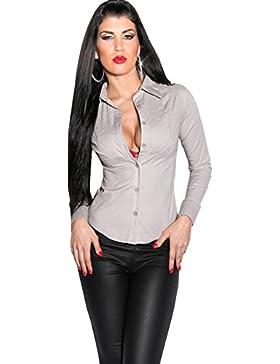 KouCla A-3019 – Blusa entallada, talla S – XXL en 8 colores