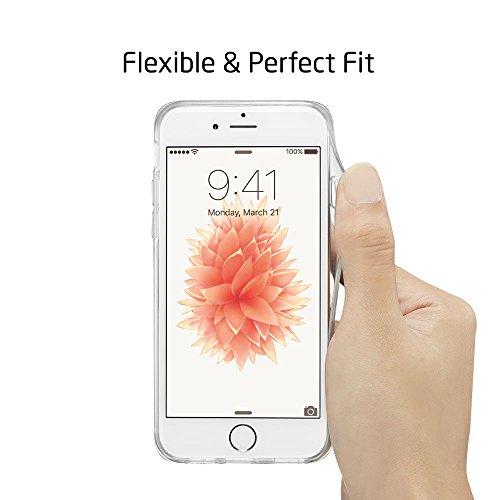 iPhone 5 / 5S Hülle, ESR® Weiche TPU Rahmen mit Hart PC Zurück mit Bändsel Loch Schutzhülle für iPhone 5S/5(Gold Henna) Feder Netz Lila