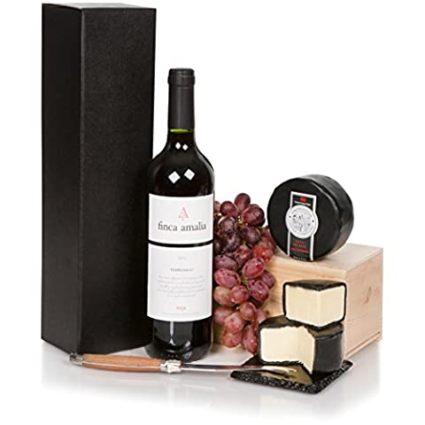 Wine and Cheese Hamper For Him - Luxury Red Wine and Cheese Hamper For Any Occasion