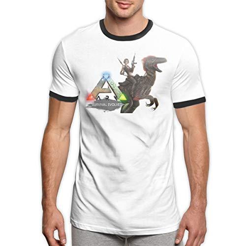 Patrick R Garrett ARK-Survival-Evolved Game Logo T-Shirts Trendy Herren Ringer T-Shirt Komfort Kurzarm T-Shirt Top -