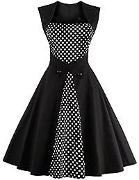 Dissa M1336 DamenRockabilly 50er Vintage Retro Kleid Partykleider Cocktailkleider