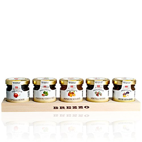Italian Condiments for Cheeseboard Gift Box - with Black Truffle Honey (5 x 35g)