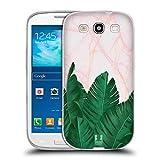 Head Case Designs Bananen Blaetter Tropische Marmor Drucke Soft Gel Hülle für Samsung Galaxy S3 III I9300