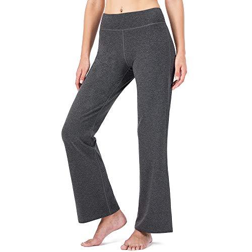 Naviskin Damen Bootcut Yogahose Bootleg Hosen hinten Taschen Petite/Regular Tall Length (73,7 cm/78,7 cm/88,9 cm Innennaht), Damen, 31