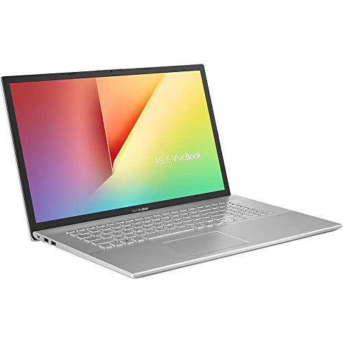 ASUS VivoBook 17 D712DA (90NB0PI1-M00550) 43,9 cm (17,3 Zoll, HD+, matt) Notebook (AMD R5-3500U, AMD Radeon Vega 8 Graphics, 8GB RAM, 512GB SSD, Windows 10) Transparent Silver