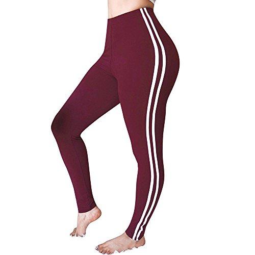 Cramberdy Leggings Hose Yogahose Damen Sport-Leggings Jogginghose Strumpfhose Streifen Hüfte Yoga Hosen Damen Stretch Laufen Fitness Leggings komfortablen Taille athletischer Sport Leggings