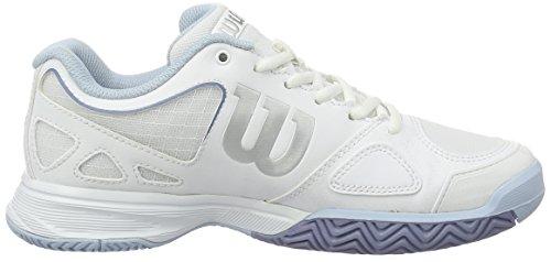 Wilson Rush Evo W Wh/Stonewash, Chaussures de Tennis Femme Multicolore (White/white/stonewash)