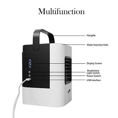 umidificazione Mini USB condizionatore Portatile Senza Tubo di Scarico Piccolo condizionatore Portatile Silenzioso purificazione Mini condizionatore Portatile 3 in 1 Refrigerazione Multifunzione