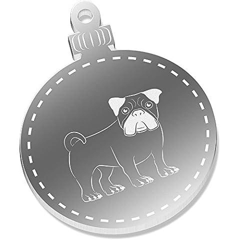 2 x 52mm 'Carlin' décorations de Noël miroir (CB00001616)