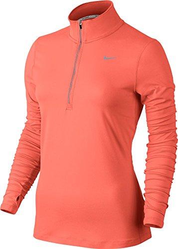 Nike Element Oberteil mit halbem Reißverschluss, langärmlig, für Damen Light Wild Mango/Reflective Silver