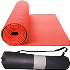 Happytech™ New Design Fitness Non Slip Yoga Mat 6mm(for Men & Women (red Color) Extra Thick and Comfort.