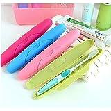 NexusWorld 4 Pcs Multicolour Travel Toothbrush Holder Cover Case - Set of 4
