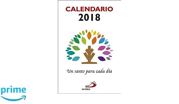 Calendario Grande.Calendario Un Santo Para Cada Dia 2018 Letra Grande