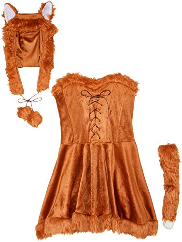 Adult Lady Kostüm Foxy - Fun World Foxy Lady Women's Costume S/M