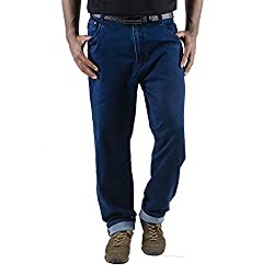 0-Degree Mens Cotton Jeans (Jemablue34 _Blue _34)