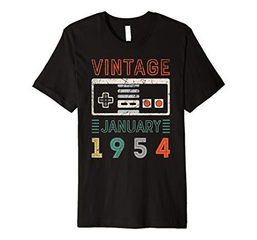 Vintage January 1954 65th Birthday Shirt 65 Year Old