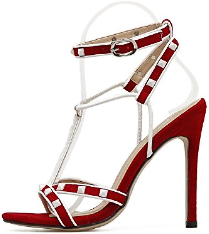 YMFIE In stile stile stile europeo rivetti unghie dei piedi sexy tacco alto sandali ladies' temperamento alla moda party eleganti... | In Breve Fornitura  | Uomini/Donna Scarpa  9dc83a