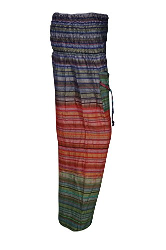 Boho Chic Designs -  Pantaloni  - Donna Green,Orange