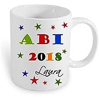 Namenstasse Kaffeebecher ABI Tasse 2018 mit Namen personalisiertes Abitur Geschenk