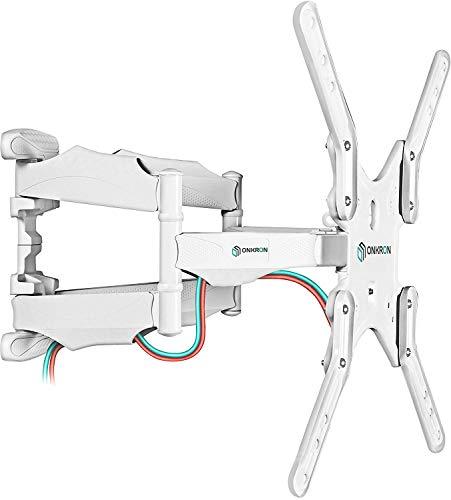 """ONKRON TV Wandhalterung für 32\"""" - 60\"""" Zoll LCD LED OLED 4K Ultra HD TV Schwenkbar Neigbar Fernseherhalterung VESA 100x100 bis 400x400 mm M5 Weiß"""