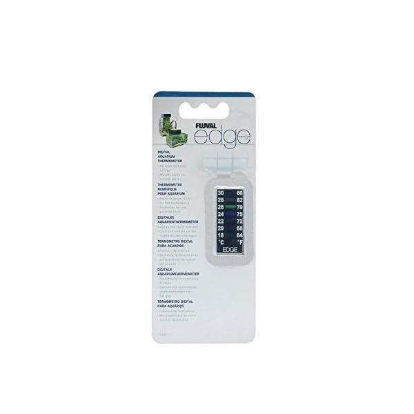 Fluval EDGE Digital Aquarium Thermometer – 64 to 86 degrees Fahrenheit