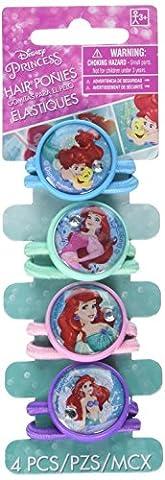 Amscan Enchanting Disney Ariel Dream Big Birthday Hair Pony O's Party Favor, Multicolor, 1 3/4
