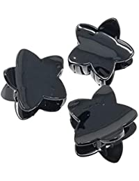 Evogirl Claw Clip Star Shape Grip Everyday Wear Hair Clip Butterfly Glossy Black, Small, For Women/Girls