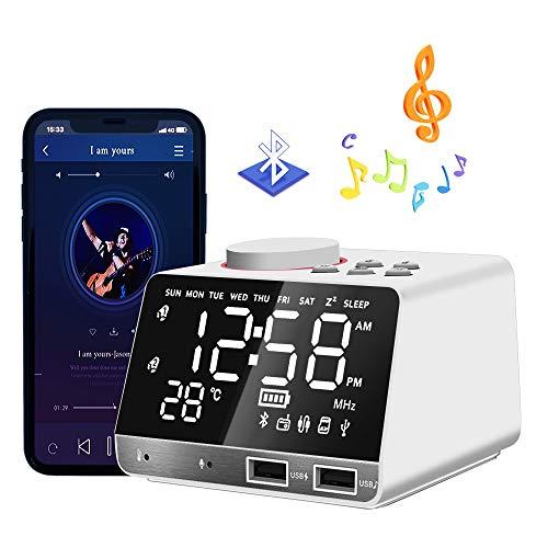 HQQNUO Despertador Radio Altavoces Bluetooth FM Reloj