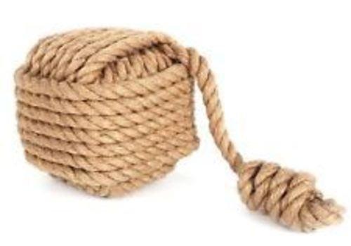 Schwere groß Cube Seil mit Ball Sackleinen braun Knoten quadratisch Nautical Türstopper -