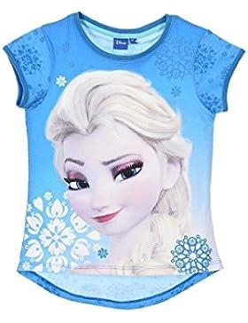 Disney - T-Shirt kurze Ärmel Frozen Die Eiskönigin - Völlig unverfroren - 8 ANS, Bleu