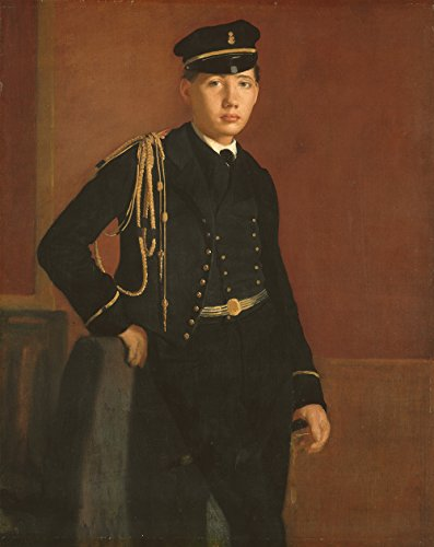 Edgar Degas - Achille De Gas in the Uniform of a Cadet - Extra Large - Semi Gloss - Black Frame