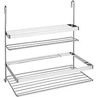 SECRET DE GOURMET Doppelte Küchenregal für Relingsystem,–30,5x 31,5cm preisvergleich bei billige-tabletten.eu