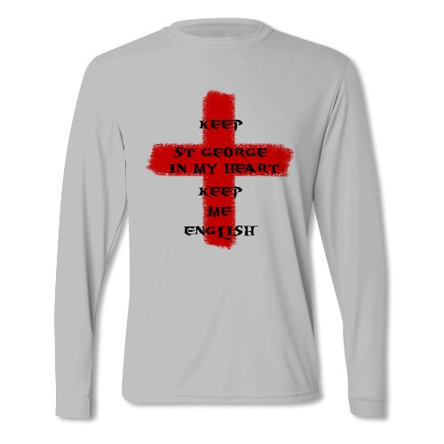 Herren Behalte St George In Meinem Herzen St George's Day Langärmliges T-Shirt Grau