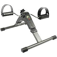 C-Xka Ejercitador de Pedal, Ligero portátil Plegable Mini Pedal de Bicicleta ejercitador con Pantalla de Ordenador