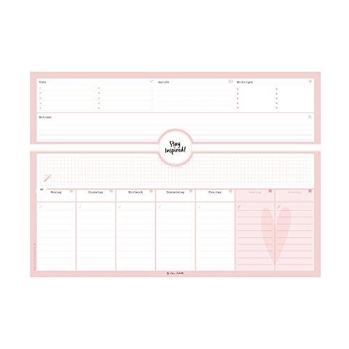 Schreibtischunterlage in pink/rosa aus Papier mit 50 Blatt zum Abreißen – Hochwertige Schreibtischunterlage im Format DIN A3: Für Kinder und … 2018 – Stay Inspired by Lisa Wirth