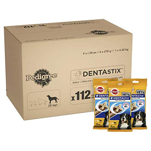 PEDIGREE - Barritas DentaSix para Perros, 1 Diaria para higiene Oral