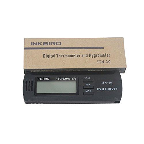 Preisvergleich Produktbild Inkbird Digitales Wecker Thermo-Hygrometer Thermometer Tragbare Temperatur Humidity Multimeter Zubehör ITH-10,C & F LCD Display