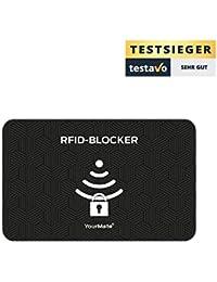 Tarjeta Protectora de Tarjetas RFID para prevenir el Robo electrónico de Datos. La Tarjeta bloqueadora de Tarjetas RFID Protege Varias Tarjetas a la Vez con YourMate®.