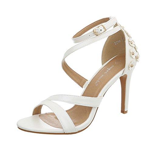 a12ca6af9422d3 Ital-Design High Heel Sandaletten Damen-Schuhe Pfennig- Stilettoabsatz Heels  Schnalle Sandalen