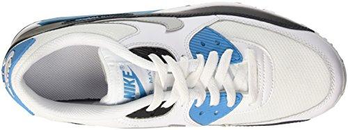 Nike Air Max 90 Mesh Gs, Scarpe da Corsa Bambino Multicolore (White/Neutral Grey/Blck/Bl Lgn)