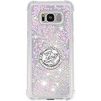 Phcases Cover per Samsung Galaxy S8,Cover Glitter Liquido, Brillantini Sabbia Custodia con Ultraslim Morbida Silicone Trasparente TPU Paraurti Cover Protettiva-Bianca.