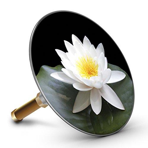 Bath Plopp Lotusblüte Weiß Badewannenstöpsel, Stöpsel für Badewanne Abfluss, Stopfen, 4436