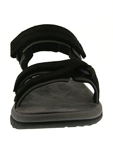 Teva Terra Fi Lite Leather W's, Sandales de sport femme Noir (Black)
